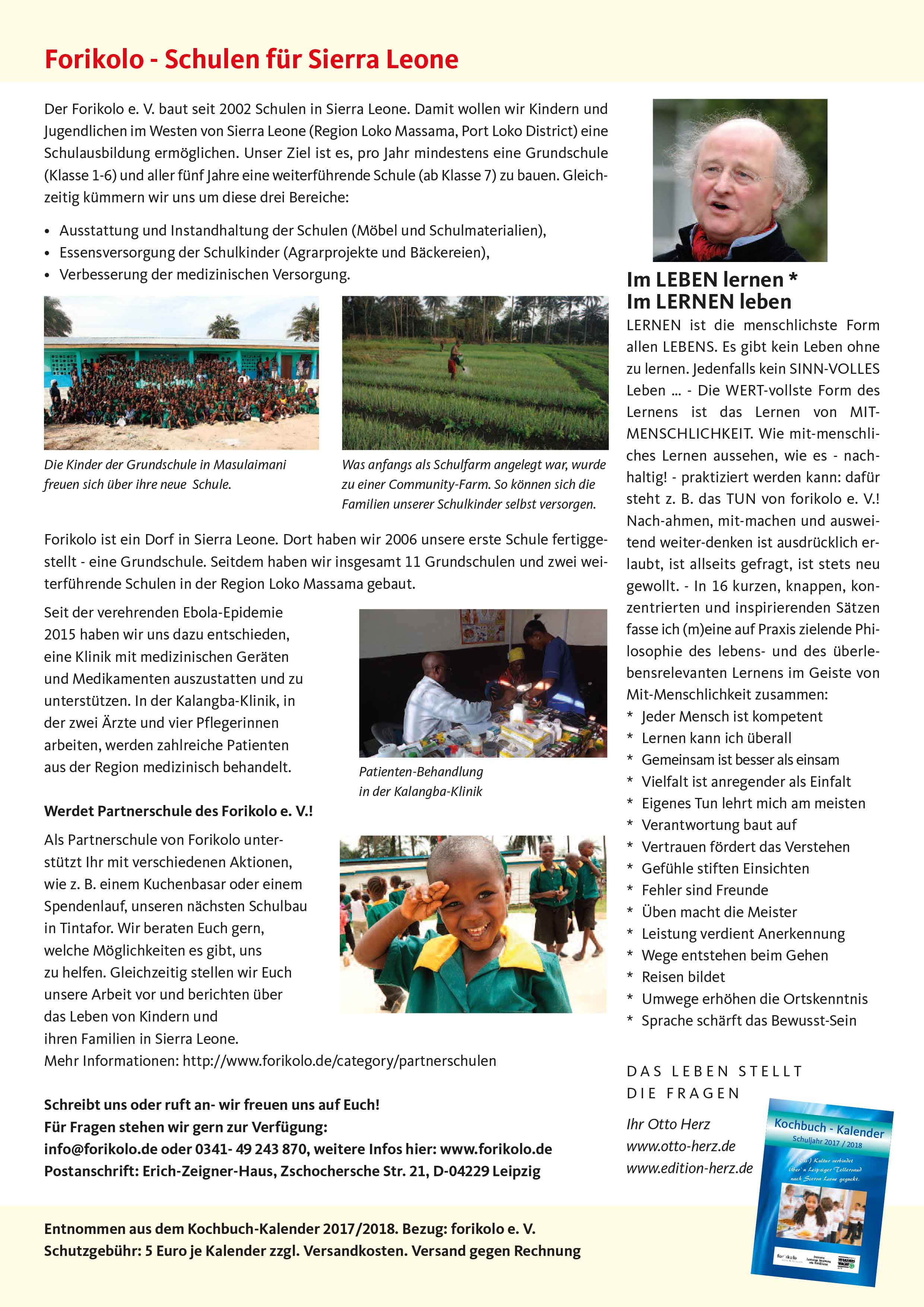 Forikolo – Schulen für Sierra Leone